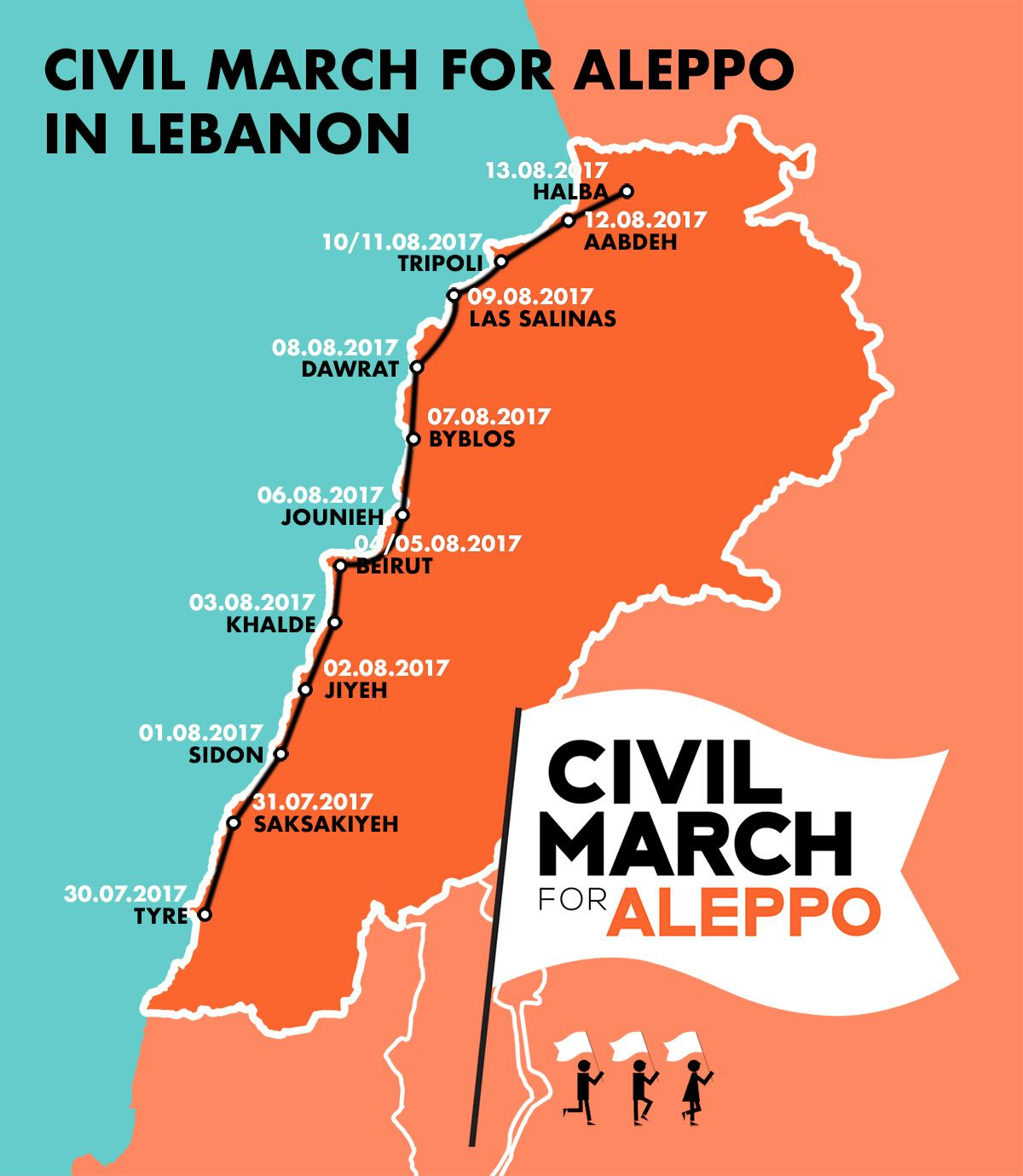 Here you can join: Our route. | Civil March for Aleppo